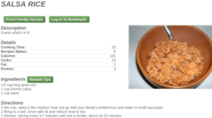 Example Recipie From MyFridgeFood Salsa Rice 300x167 - Recipes by ingredients the top apps and websites