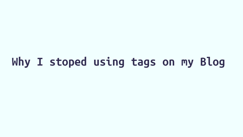 why stop using tags wordpress