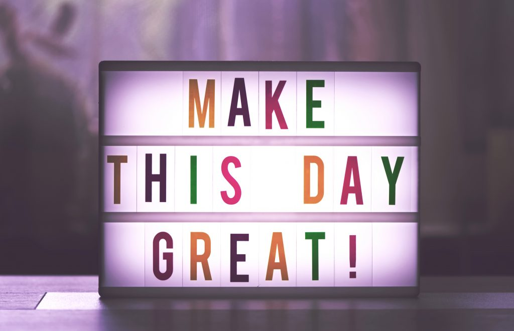 blog post goes viral Make this day great quote board